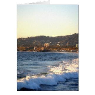 Santa Monica Pier as seen from Venice Beach Card