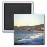 Santa Monica Pier as seen from Venice Beach Magnet