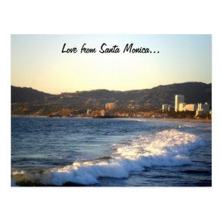 Santa Monica Pier as seen from Venice Beach Postcard