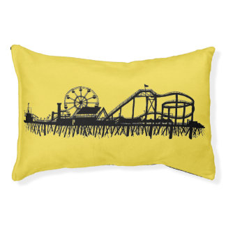 Santa Monica Pier California Cali Roller Coaster Pet Bed
