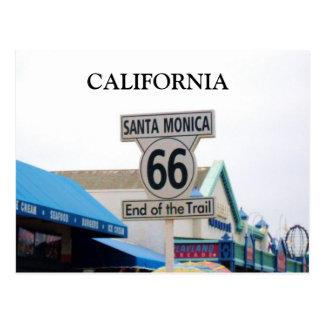 SANTA MONICA PIER, CALIFORNIA postcard