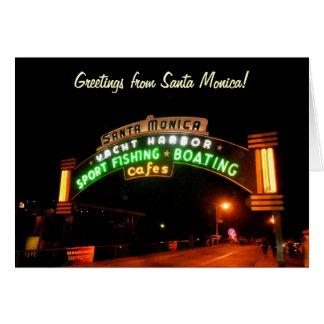Santa Monica Pier Greeting Cards