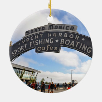 Santa Monica Pier Ceramic Ornament