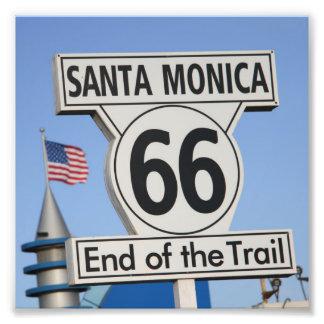 Santa Monica Pier - End of the Trail Photographic Print