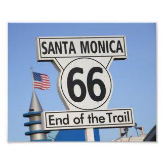 Santa Monica Pier - End of the Trail Photo Print