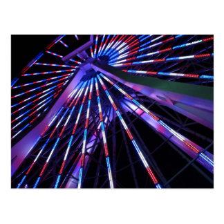 Santa Monica Pier Ferris Wheel at Night Postcard