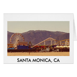 Santa Monica Pier - Greeting Card 01