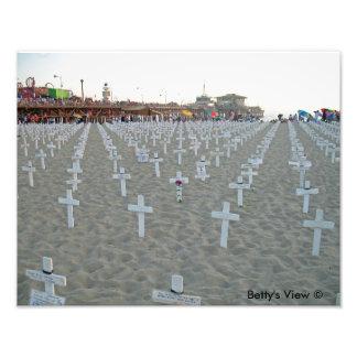Santa Monica Pier Iraq Memorial Photographic Print