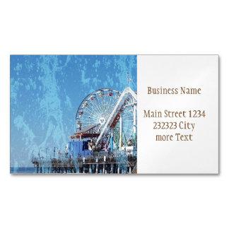 Santa Monica Pier Magnetic Business Card