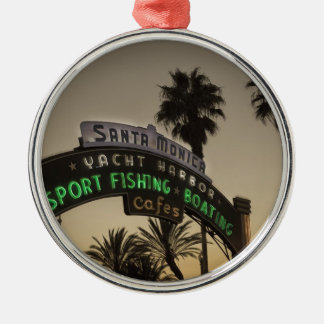 Santa Monica pier Metal Ornament