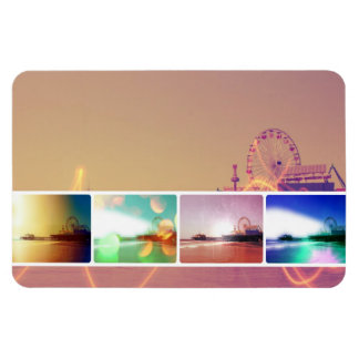 Santa Monica Pier Photo Collage Magnet