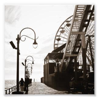 Santa Monica Pier Art Photo