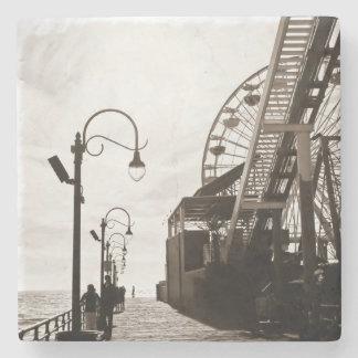 Santa Monica Pier Stone Coaster