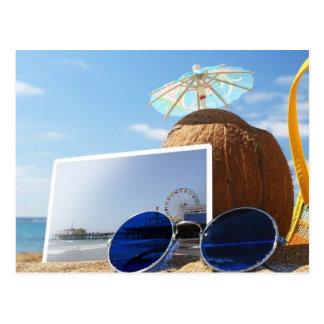 Santa Monica Pier Summer Beach Party Postcard