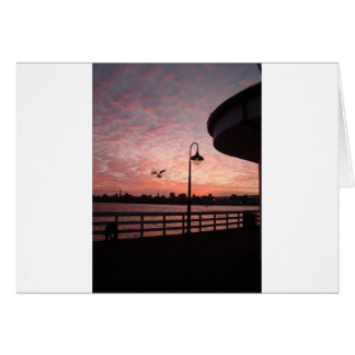 Santa Monica Pink Greeting Card