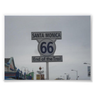 Santa Monica Route 66 Art Photo