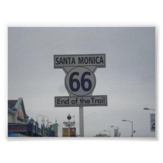 Santa Monica Route 66 Photo Print
