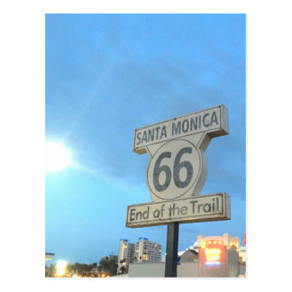 Santa Monica Route 66 Postcard
