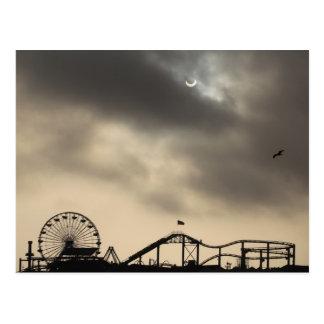 Santa Monica Solar Eclipse Post Card