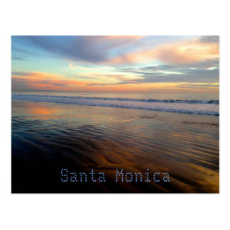 Santa Monica Trippy Sunset Dream Postcard