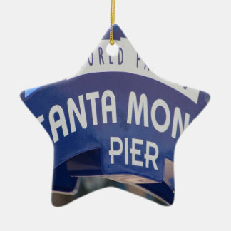 Santa Monica Venice Beach California Beach Holiday Ceramic Ornament