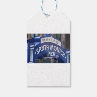 Santa Monica Venice Beach California Beach Holiday Gift Tags