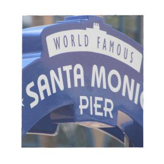 Santa Monica Venice Beach California Beach Holiday Notepad