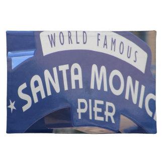 Santa Monica Venice Beach California Beach Holiday Placemat