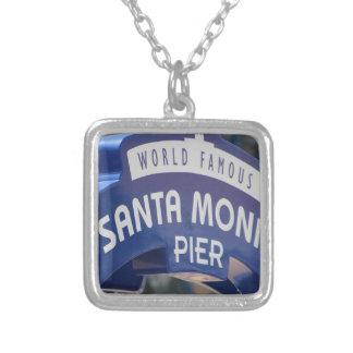 Santa Monica Venice Beach California Beach Holiday Silver Plated Necklace