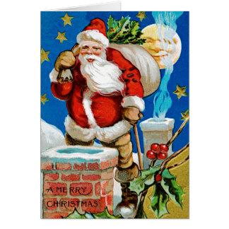 Santa Moon Greeting Card