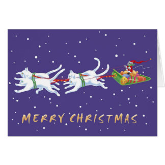 Santa Mouse card