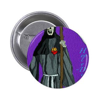 santa muerte apparell 6 cm round badge