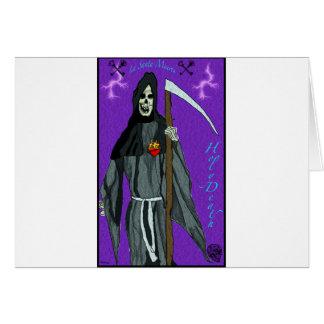 santa muerte apparell greeting card