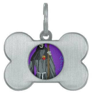 santa muerte apparell pet tags