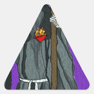 santa muerte apparell triangle sticker