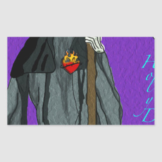santa muerte apparell rectangular sticker