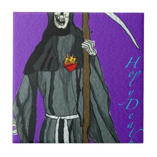 santa muerte apparell small square tile