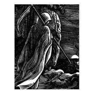 Santa Muerte (Mexican Grim Reaper) circa 1939 Postcard