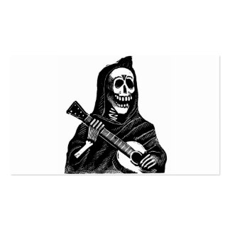 Santa Muerte (Mexican Grim Reaper) Playing Guitar Business Cards