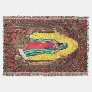 Santa Muerte Tarot - Holy Death Throw Blanket
