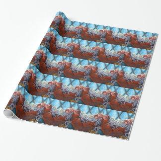 """""""Santa Napping"""" Gift Wrap"""