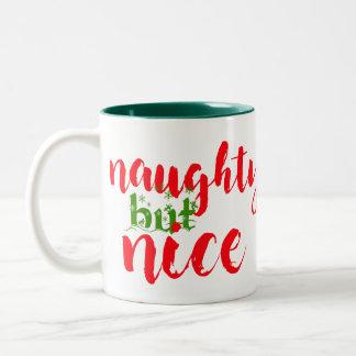 santa naughty but nice christmas coffee mug design