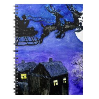 Santa Night Flight Notebook