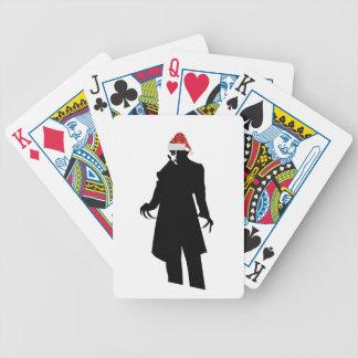 santa nosferatu bicycle playing cards