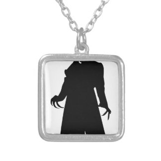 santa nosferatu silver plated necklace