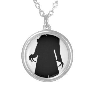 santa nosferatu silver plated necklace
