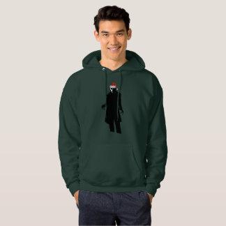 santa nosferatu xmas mens hooded hoodie sweatshirt