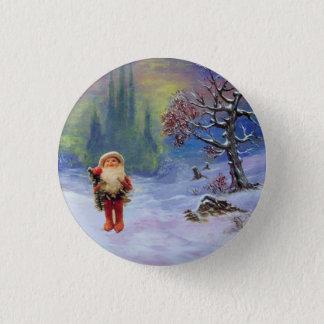 SANTA OF THE GNOMES Funny Christmas 3 Cm Round Badge