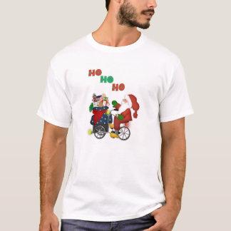 Santa On Bike HoHoHo White T-Shirt