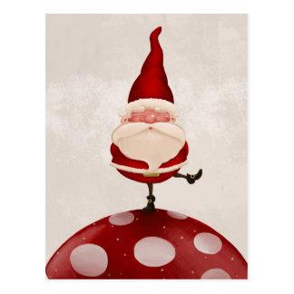 Santa on fungus postcards